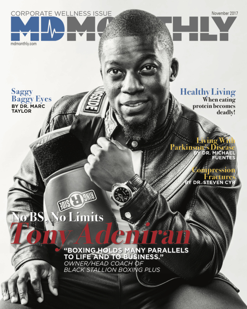 Tony Adeniran MD Monthly November Magazine Cover