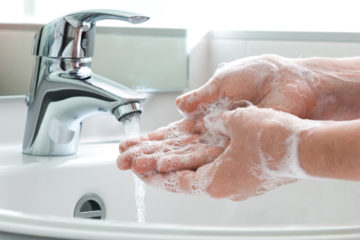Washing hands Premier Bio Waste